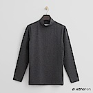 Hang Ten - 男裝-ThermoContro-高領質感純色保暖上衣-灰