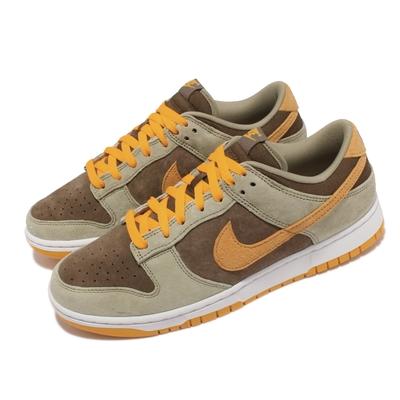 Nike 休閒鞋 Dunk Low SE 運動 男女鞋 Dusty Olive 情侶穿搭 麂皮 綠 黃 DH5360-300