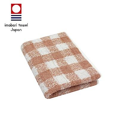 日本今治 純天然有機棉無染色毛巾(方格-粉藕紅)