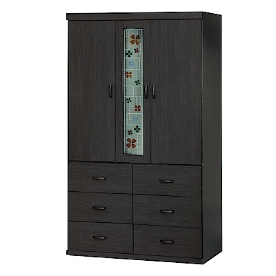 綠活居 美波爾3.9尺三門六抽衣櫃(二色可選)-115.8x57x198.5cm免組