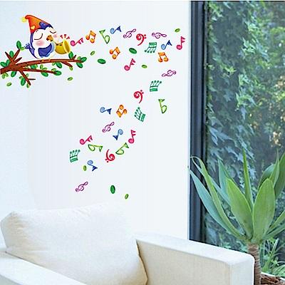 半島良品 DIY無痕壁貼-小鳥音符 AY645 45x60cm