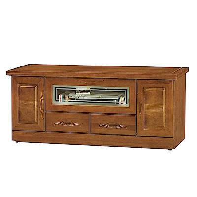 綠活居 艾莉坦時尚4.9尺木紋電視櫃/視聽櫃-148x50x62cm-免組