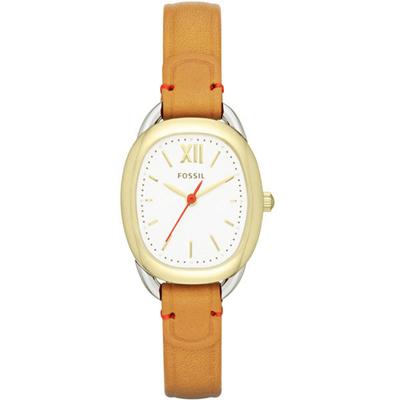 FOSSIL 完美體現淑女腕錶-金框棕