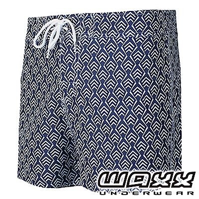 WAXX 衝浪系列-幾何時尚快乾型男海灘褲(13英吋)