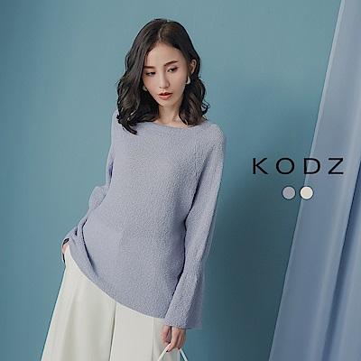 東京著衣-KODZ 女神心機露背微喇叭針織上衣-(共二色)