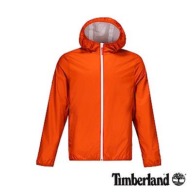 Timberland 男款路易波士紅防水可收納式連帽外套|A1OM4
