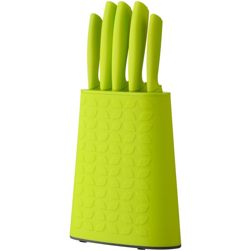 《Premier》花紋刀座+刀具5件(綠)