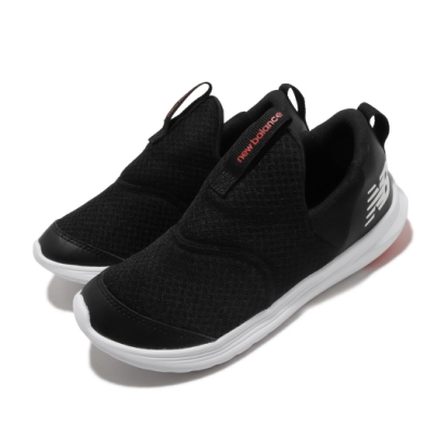 New Balance 休閒鞋 Step Wide 套腳 寬楦 童鞋 紐巴倫 輕便 舒適 易穿脫 中童 黑 白 POSTEPCKW