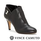 VINCE CAMUTO 後跟金屬裝飾帥氣扣環高跟鞋-黑色