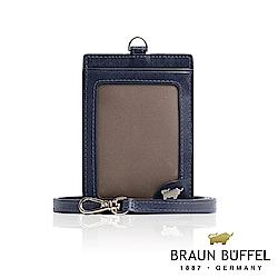BRAUN BUFFEL -HOMME-M系列極光紋證件夾 - 深藍