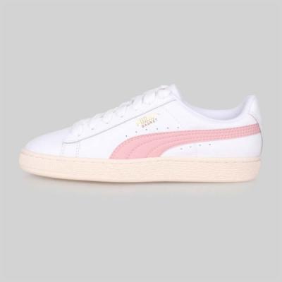 PUMA 男女 經典復古休閒鞋 BASKET CLASSIC LFS 白粉