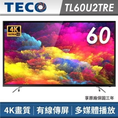TECO東元 60吋 4K顯示器+視訊卡TL60U2TRE