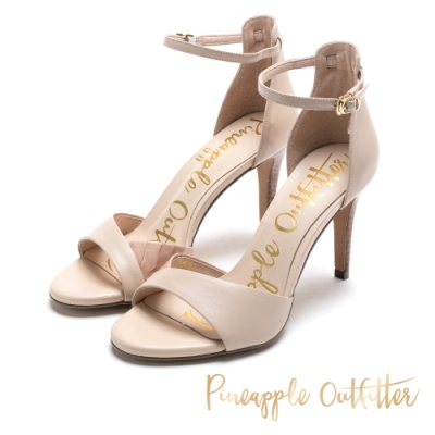 Pineapple Outfitter 絕對質感皮革高跟鞋-米色