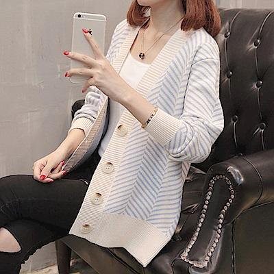 條紋針織毛衣外套-共4色(F可選)    NUMI 森
