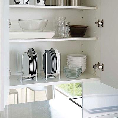 日本YAMAZAKI-Plate日系框型盤架L-4入★碗盤架/置物架/保鮮盒蓋收納