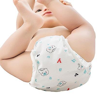 JoyNa學習褲 純棉印花布尿褲隔尿褲-四件入