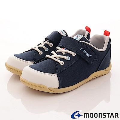 日本Carrot機能童鞋 新創帆布穩定款-21725藍(中小童段)