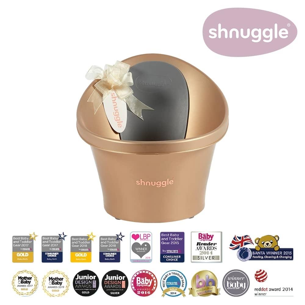 【英國Shnuggle】月亮澡盆-香檳金(嬰兒浴盆)