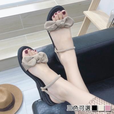 KEITH-WILL時尚鞋館 時尚元素兩穿蝴蝶結涼拖鞋