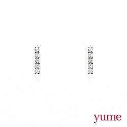 YUME - K金小排鑽耳環