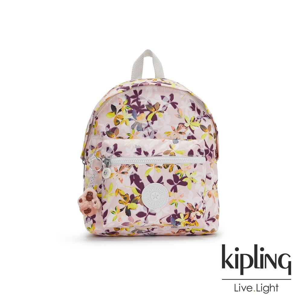 Kipling 飄零落花粉造型簡約後背包-REPOSA