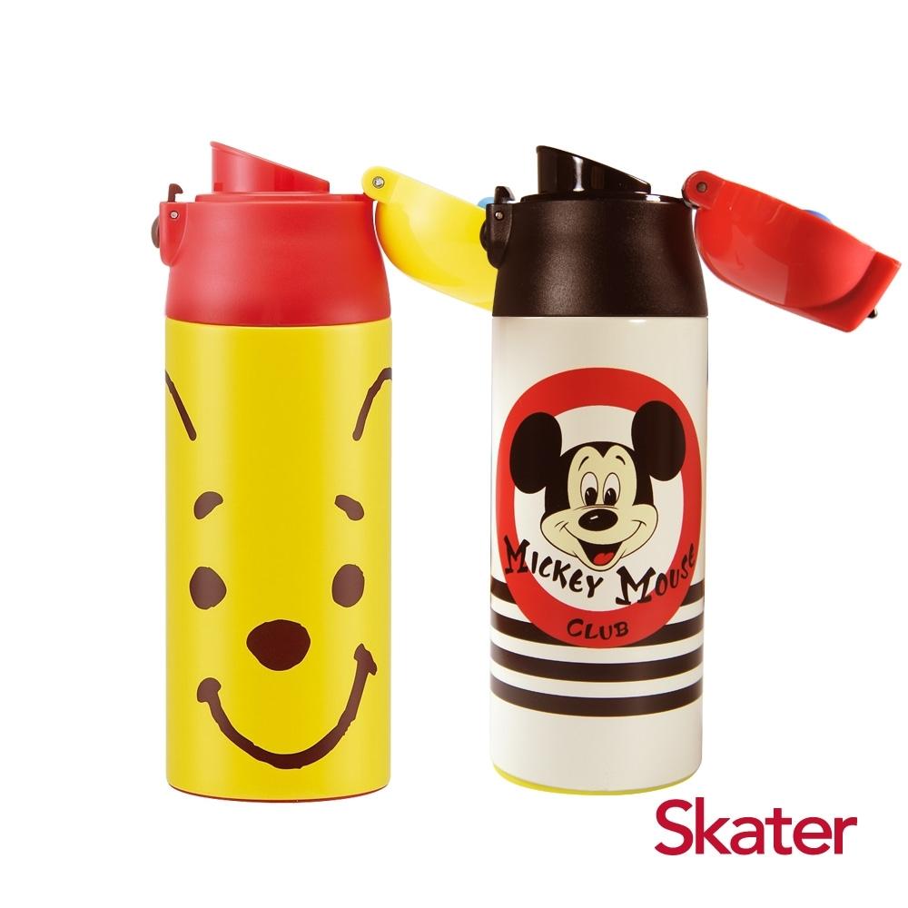 Skater 直飲2入-不鏽鋼保溫瓶(360ml)維尼FACE+米奇Club