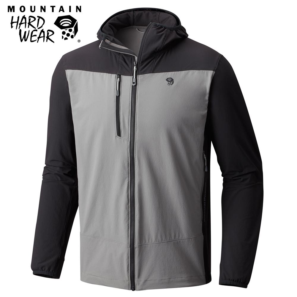 Mountain Hardwear 男款-防曬50防潑軟殼連帽外套-深灰