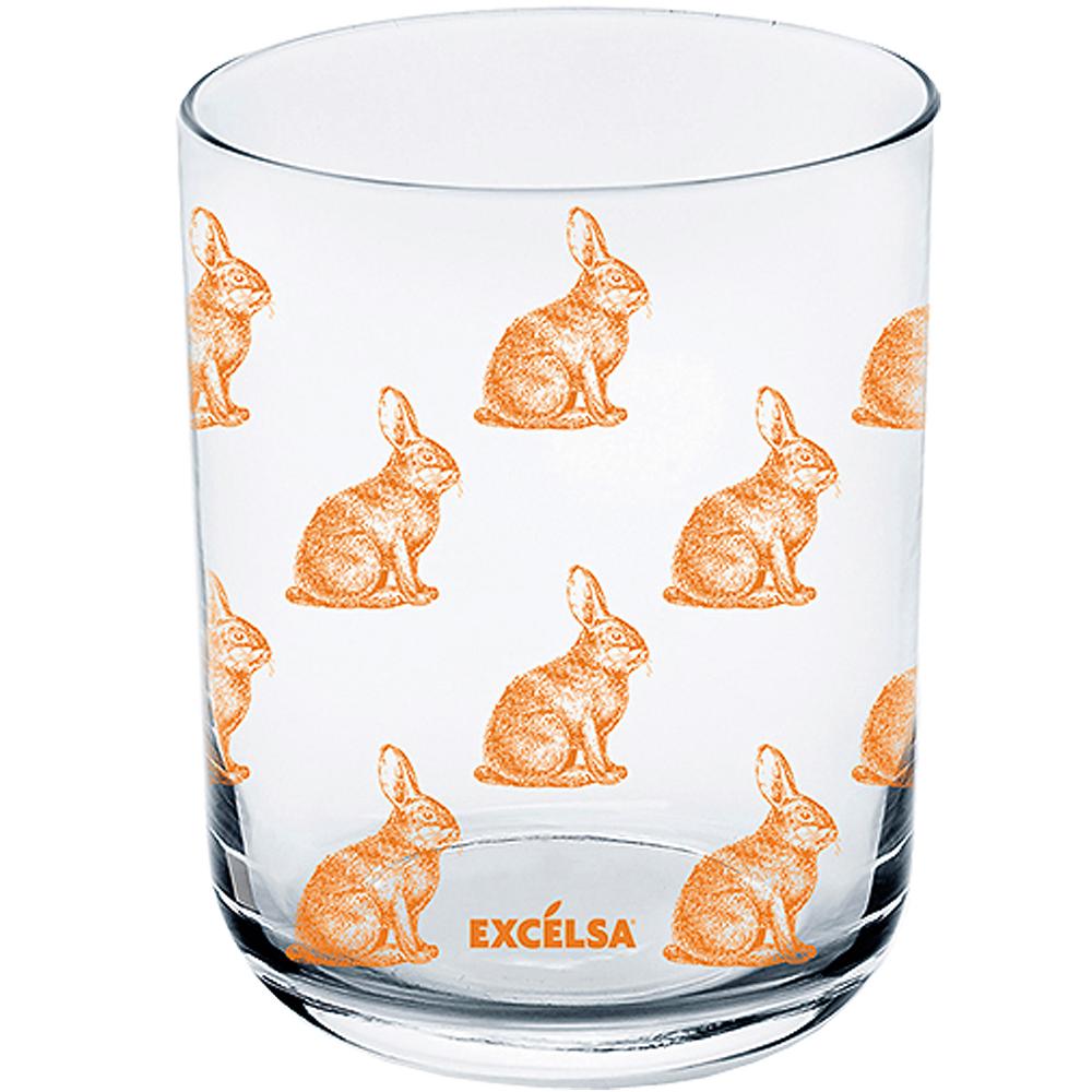《EXCELSA》玻璃杯(橘兔350ml)