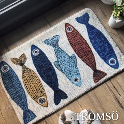TROMSO 綿羊絨超吸水大地墊-北歐魚兒