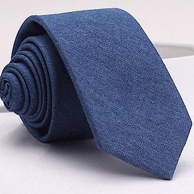 拉福   領帶牛仔窄版領帶6cm領帶手打領帶