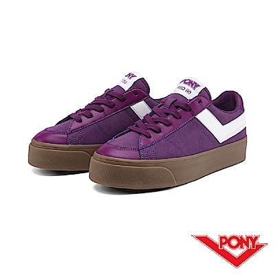 【PONY】PRO 80系列-經典復古休閒鞋-女-茄紫