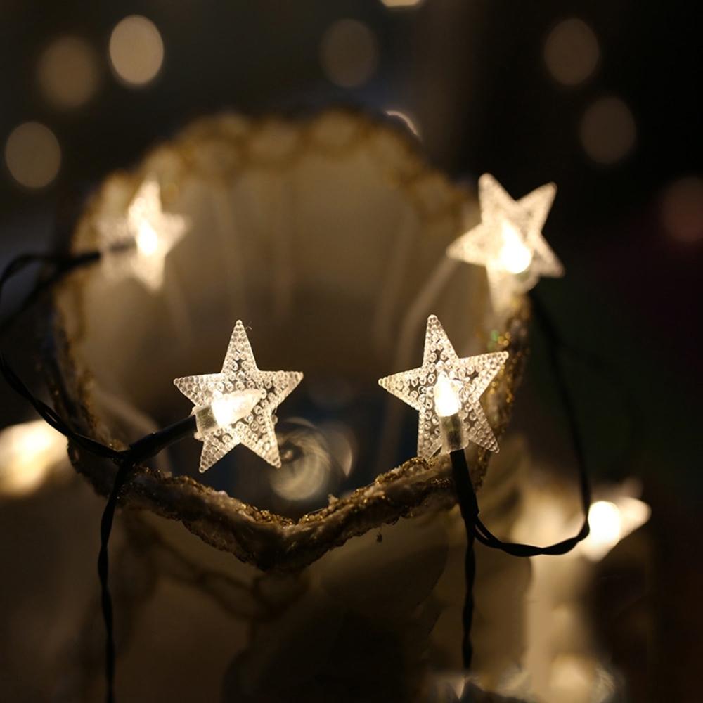 半島良品 IG爆款派對布置 耶誕聖誕燈飾/燈串 1.5米(A)-星星水晶