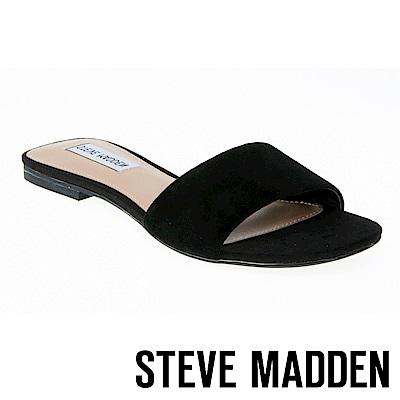 STEVE MADDEN BEVY 水鑽一字低跟拖鞋-黑色