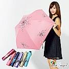 【雙龍牌】降溫14度碳纖HANA超輕量黑膠反向折傘/晴雨傘B8034