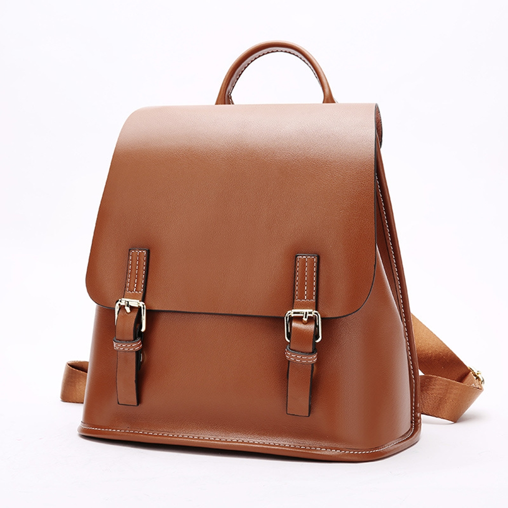 玩皮工坊-真皮牛皮女士大容量雙肩包後背包書包女包-LB62
