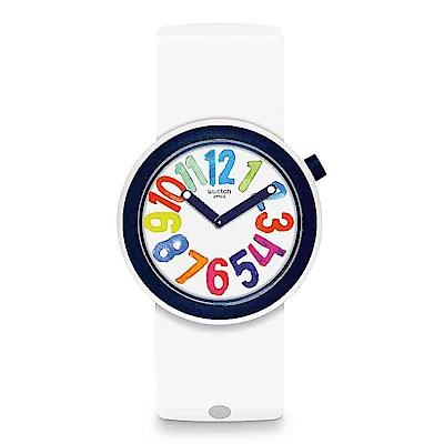 Swatch THINK FUN系列 POPNUMBER 流行符號手錶