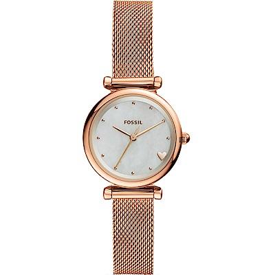 FOSSIL Carlie 愛上女仕米蘭帶石英女錶(ES4505)-28mm