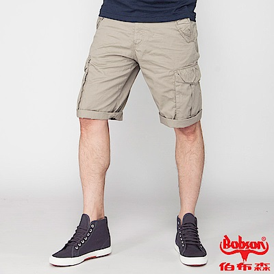 BOBSON 男款貼袋短褲(卡其 190 - 72 )