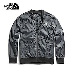The North Face北面女款黑色防潑水風衣外套|3V77JK3
