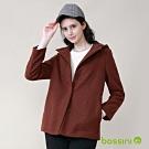 bossini女裝-連帽刷毛外套02褐色