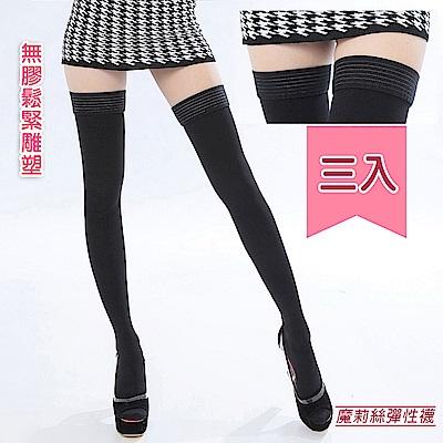 買二送一魔莉絲彈性襪-360DEN西德棉大腿襪一組三雙-壓力襪醫療襪