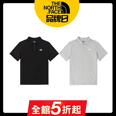 【The North Face】YAHOO 限時優惠-北面熱銷男生款透氣短袖POLO衫(3款任選)