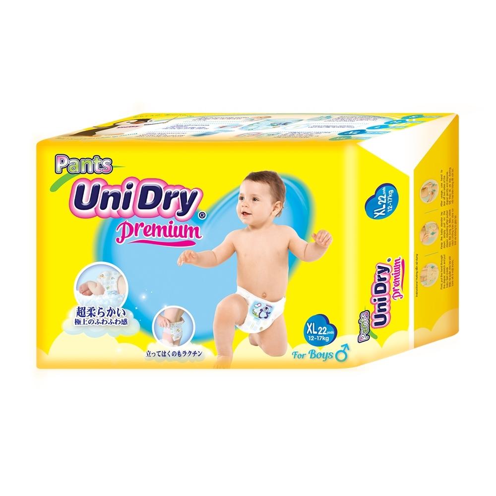 優力褲 嬰兒褲型紙尿褲特級版男生版XL22片x8包/箱(嬰兒紙尿褲 褲型紙尿褲)