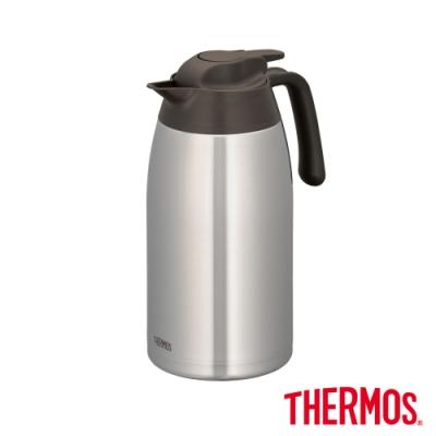 THERMOS膳魔師不鏽鋼真空保溫壺2.0L(THV-2001-SBW)(不鏽鋼色)