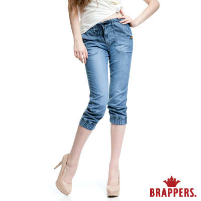 BRAPPERS 女款 Boy Friend Jeans系列-女用天絲棉七分褲-藍