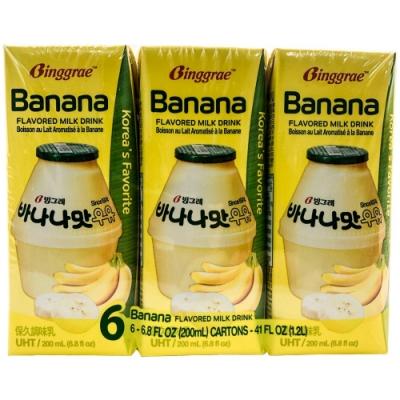 Binggrae 香蕉味保久調味乳(200mlx6入)