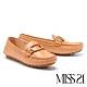 平底鞋 MISS 21 精緻都市品格全真皮方頭樂福平底鞋-棕 product thumbnail 1