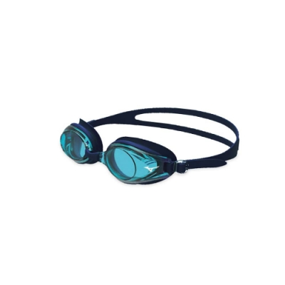 MIZUNO 日製-健康型墊片泳鏡  SWIM 水藍黑