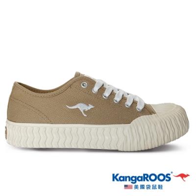 KangaROOS 美國袋鼠鞋 女 CRUST 甜點餅乾鞋/帆布鞋/休閒鞋(卡其-KW11631)
