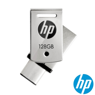 HP x5000m Type-C OTG USB3.1 128GB雙頭隨身碟(銀/黑)